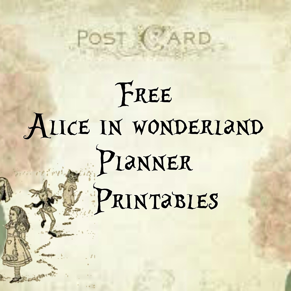 photograph regarding Printable Alice in Wonderland identified as Alice within just Wonderland Totally free Typical Planner Printables