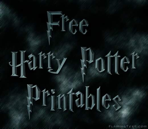 Bewitching image within free printable harry potter